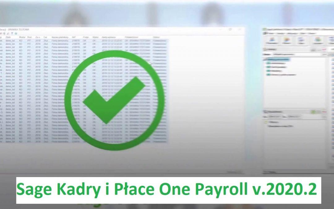 Sage Kadry i Płace – najnowsze wydanie – wersja 2020.2