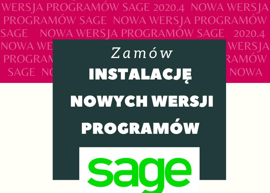 Nowe wersje programów Sage