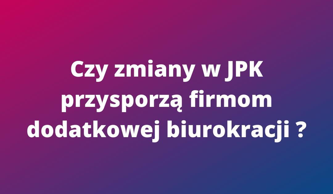 Zmiany w JPK