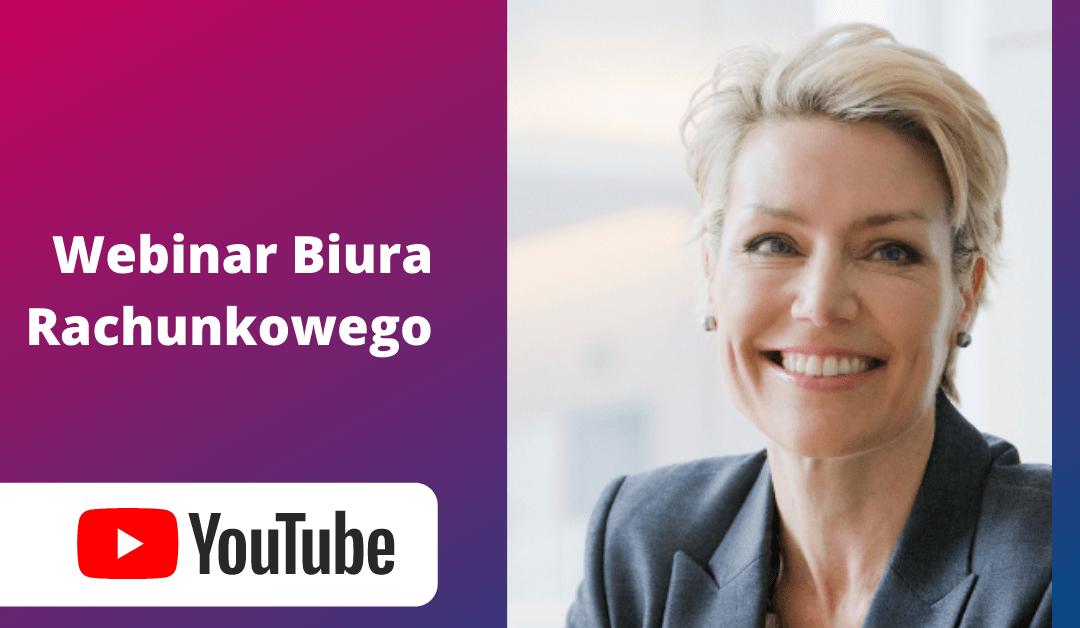 Webinar Biuro rachunkowe online na Youtube